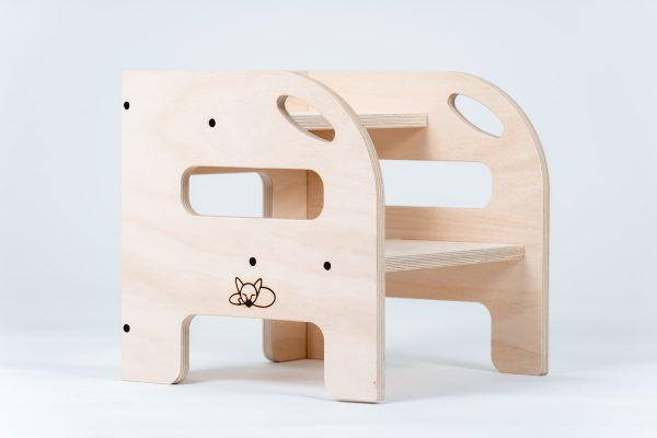 2 up step timber for toddlers