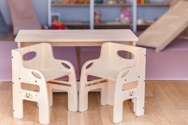 Activity table and two weaning chairs