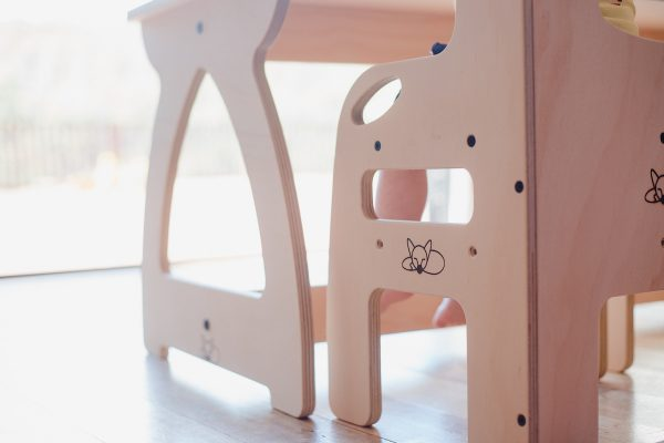 Details of the chair and table legs.