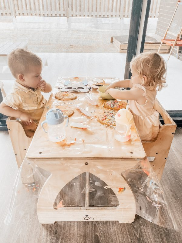Wooden Montessori Activity Table. the perfect playroom