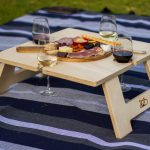 Square Wine and Cheese Table