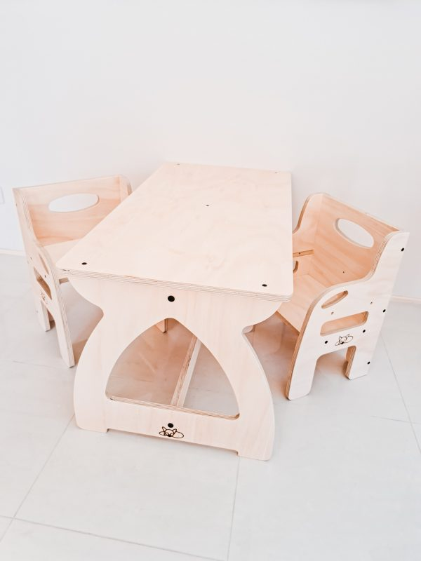 Wooden activity table for young cildren
