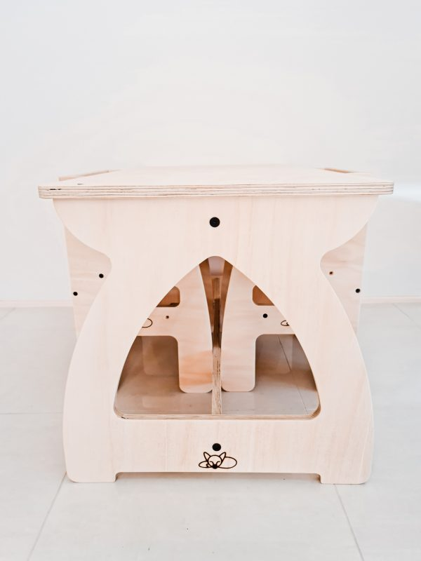Wooden activity table and chairs