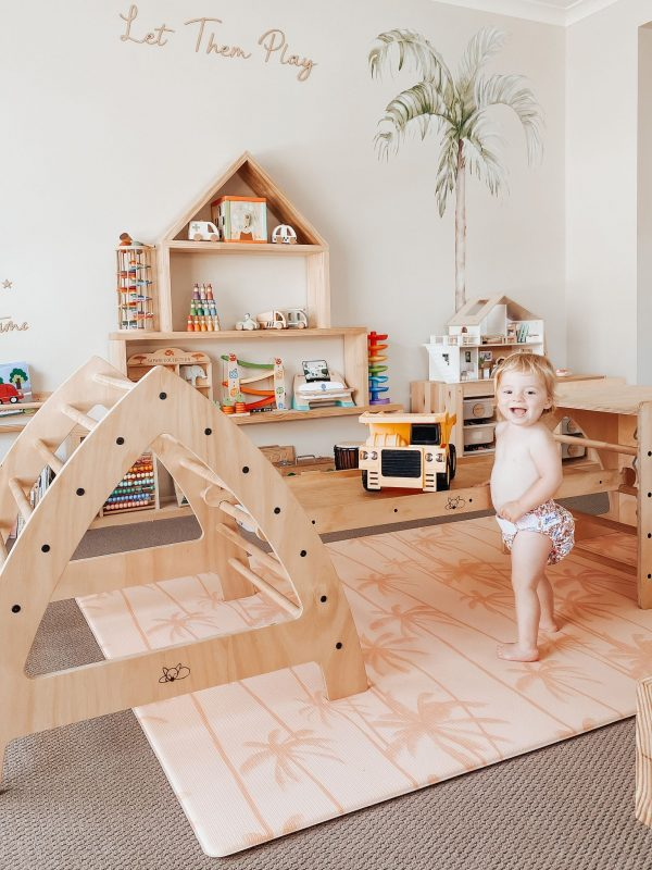 Large Pikler Arch in a Montessori playroom