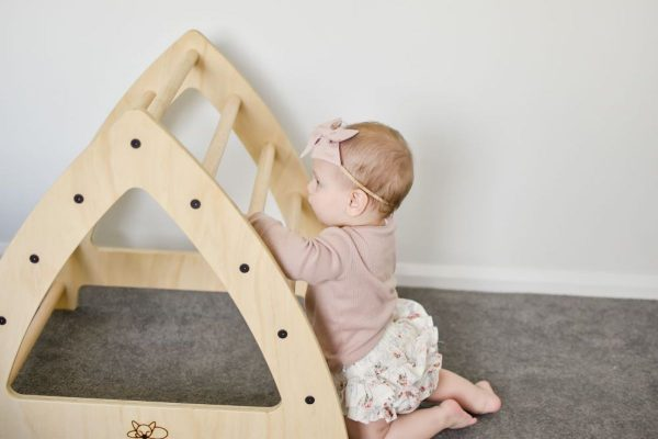 Medium Pikler Climbing Arch with baby playing on it