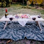 Rectangular Wine and Cheese Table