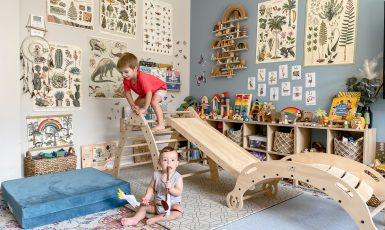 Wild and Free Package by Fox Wood Co in a Montessori playroom